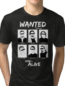 Wanted Grunge Icons Tri-blend T-Shirt