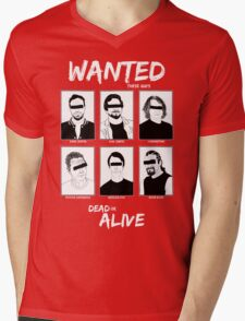 Wanted Grunge Icons Mens V-Neck T-Shirt
