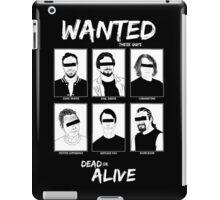 Wanted Grunge Icons iPad Case/Skin