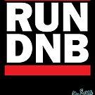 RUN DNB Design - White by MrBisto