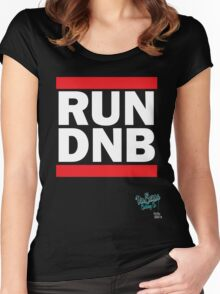 RUN DNB Design - White Women's Fitted Scoop T-Shirt
