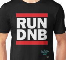 RUN DNB Design - White Unisex T-Shirt