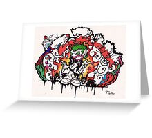 graffiti zozobra Greeting Card
