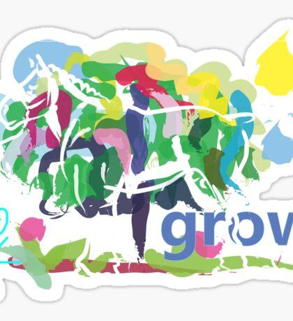 cute t-shirt affirmation grow Sticker