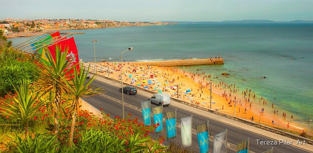 Estoril beach. Hotel cascais Miragem. by terezadelpilar ~ art & architecture