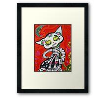 Gato De Los Muertos Framed Print