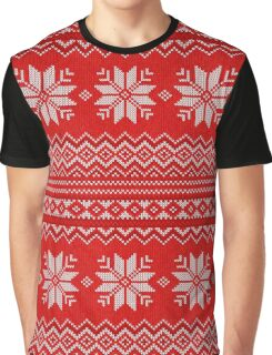 Christmas Knitted  pattern  Graphic T-Shirt