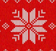 Christmas Knitted  pattern  Sticker