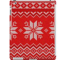 Christmas Knitted  pattern  iPad Case/Skin