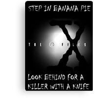 the x-files - banana pie Canvas Print