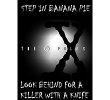 the x-files - banana pie Photographic Print