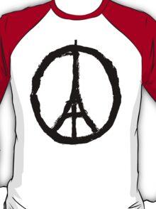 Paris Peace Symbol - White T-Shirt