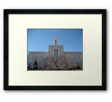 Mount Timpanogos, Utah Temple Framed Print