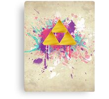 Triforce Splash Canvas Print