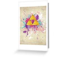 Triforce Splash Greeting Card