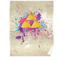 Triforce Splash Poster
