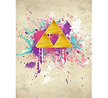 Triforce Splash Photographic Print