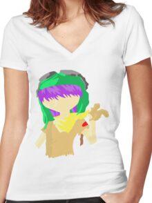 Desert Noodle Women's Fitted V-Neck T-Shirt