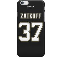 Pittsburgh Penguins Jeff Zatkoff Jersey Back Phone Case iPhone Case/Skin