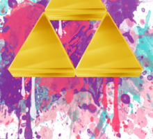 Triforce Splash Sticker