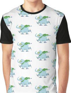 Ski Elephant Graphic T-Shirt