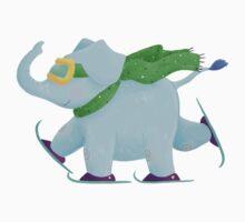 Ski Elephant Kids Tee