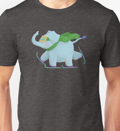 Ski Elephant Unisex T-Shirt