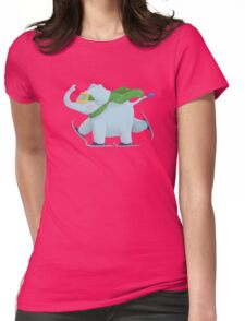 Ski Elephant Womens Fitted T-Shirt