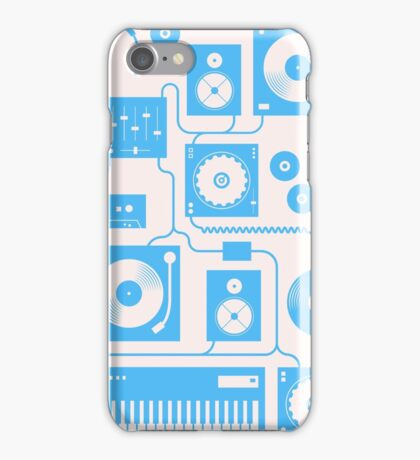 Four To The Floor — Electric Blue iPhone Case/Skin