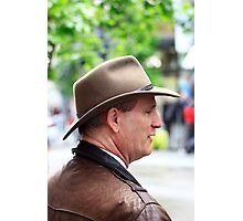 MAN WITH A HAT Photographic Print