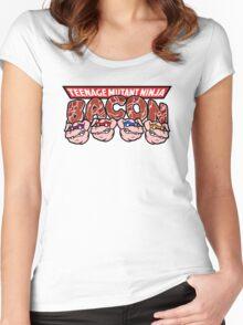 Teenage Mutant Ninja Bacon  Women's Fitted Scoop T-Shirt