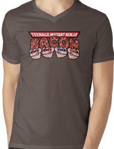 Teenage Mutant Ninja Bacon  Mens V-Neck T-Shirt