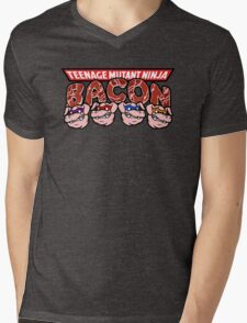 Teenage Mutant Ninja Bacon  Mens V-Neck T-Shirt