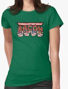 Teenage Mutant Ninja Bacon  Womens Fitted T-Shirt
