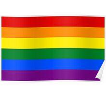 Rainbow flag Gay Homosexual Lesbian Poster