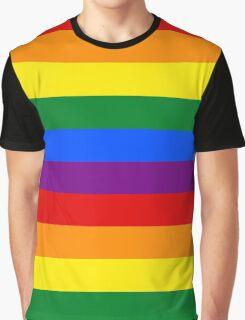 Rainbow flag Gay Homosexual Lesbian Graphic T-Shirt