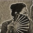 Lady With A Fan by Chet  King