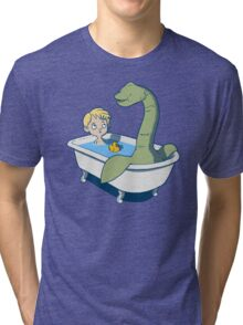 There's something in my bath!! Tri-blend T-Shirt
