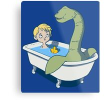There's something in my bath!! Metal Print