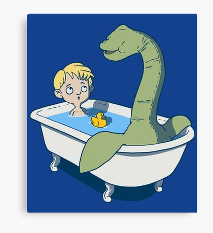 There's something in my bath!! Canvas Print