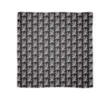 Black And White Geometry Structure Pattern. Scarf