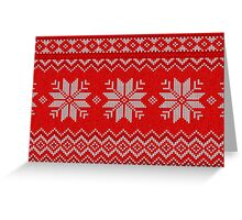 Christmas Knitted  pattern  Greeting Card
