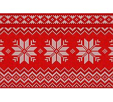 Christmas Knitted  pattern  Photographic Print