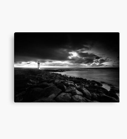 Port Fairy lighthouse moving low clouds sunrise Canvas Print