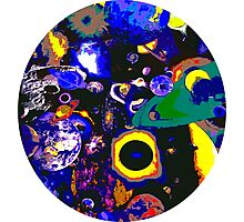 3d Galactic Worlds Circle Print Photographic Print