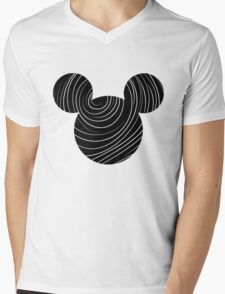 Mouse Spiral Patterned Silhouette T-Shirt