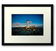 Port Fairy Griffith Island Lighthouse Sunrise Framed Print