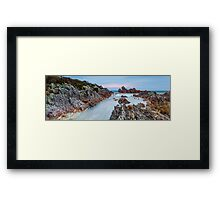 Rocky Cape Sunset Panorama Framed Print