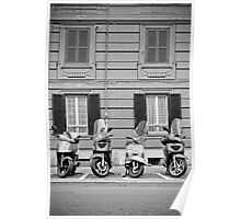 Scooters in ROME, Italy Poster