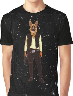 Han Solo Star Wars Dog Graphic T-Shirt